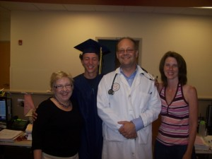 Ian with Mom, Sue and Dr. Glod